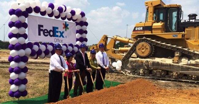Groundbreaking Ceremonies for FedEx and Raytheon